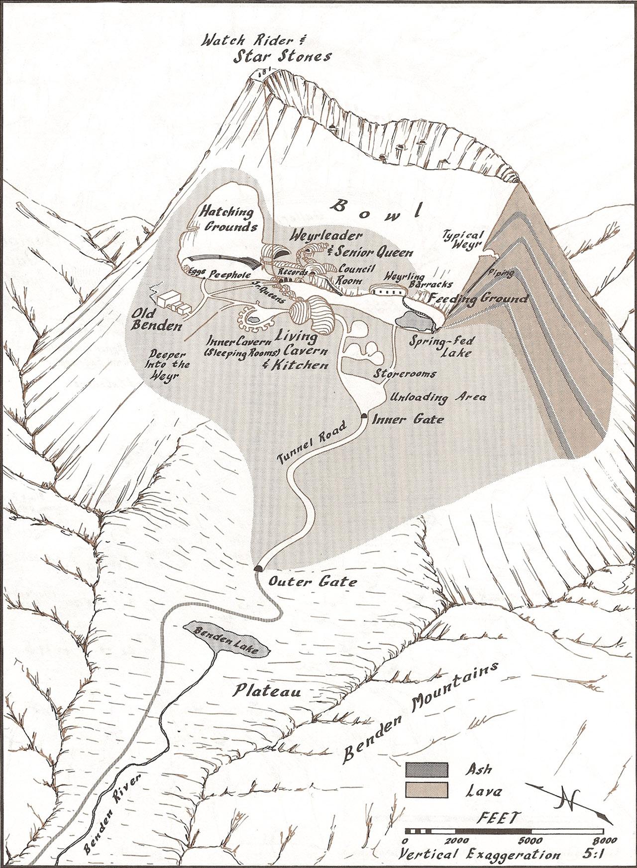 Map of Benden Weyr