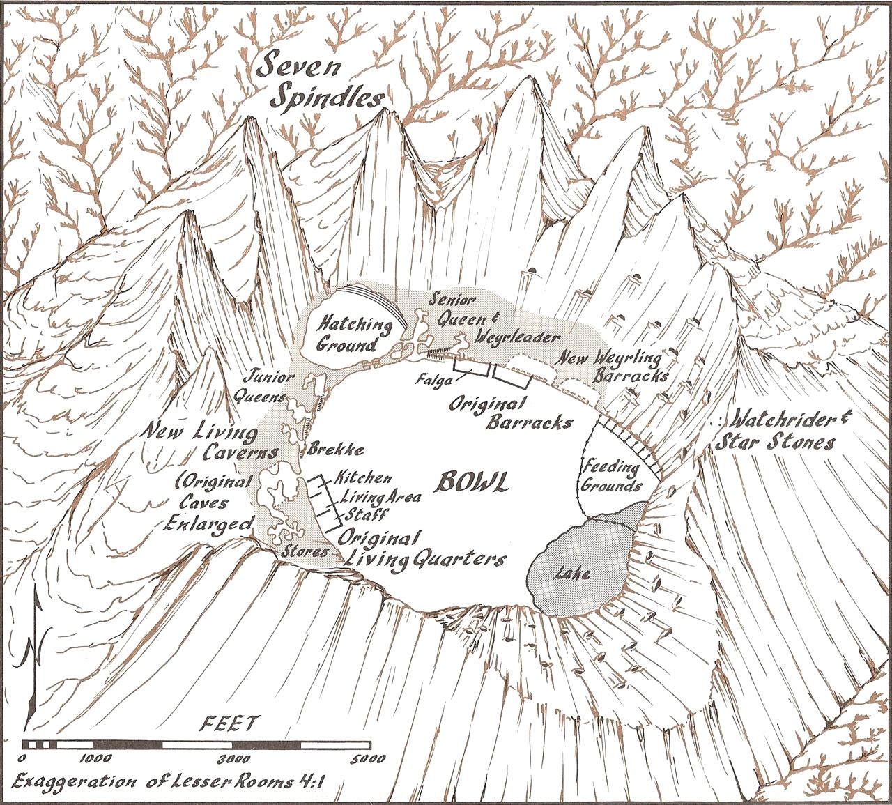 Map of High Reaches Weyr